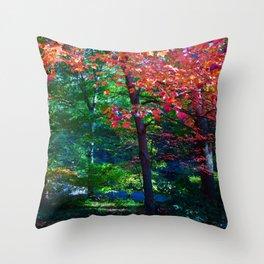 Fall forest Throw Pillow