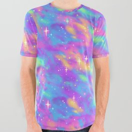 Pastel Galaxy All Over Graphic Tee