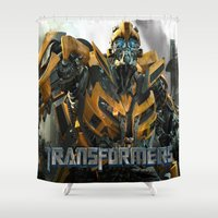 transformers Shower Curtains featuring transformers by store2u