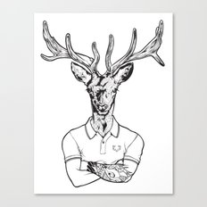 bambi's a grown up now  Black Canvas Print