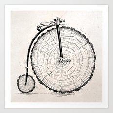 wooden bicycle Art Print