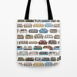 TV Couches Tote Bag
