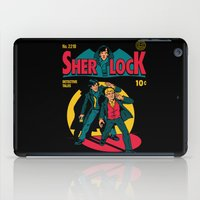 tintin iPad Cases featuring Sherlock Comic by harebrained