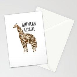 american giraffe american giraffe thick fat Stationery Cards