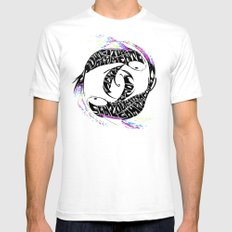 Water instinct White SMALL Mens Fitted Tee