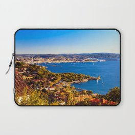 Evening after the Barcolana regatta of record in the gulf of Trieste Laptop Sleeve