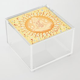It's safe to be fully present in my body Acrylic Box
