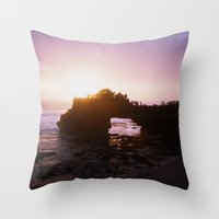 bali Throw Pillows featuring Bali Sunset by Tracy Zhang