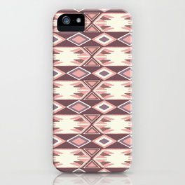 Pink Fall Ikat #society6 #ikat iPhone Case