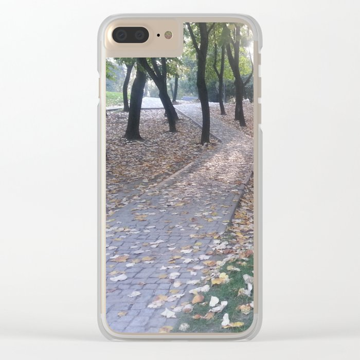 End of summer afternoon in park Clear iPhone Case