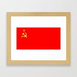 ussr cccp russia soviet union communist flag Framed Art Print