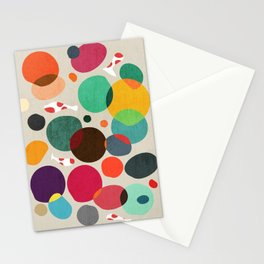 Lotus in koi pond Stationery Cards