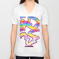 northern lights V-neck T-shirts featuring Northern Lights by Carrollskitchen on youtube