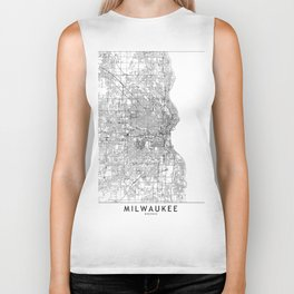 Milwaukee White Map Biker Tank