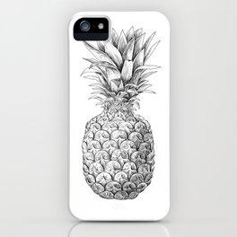Pineapple, tropical fruit illustration iPhone Case