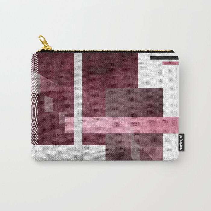 Abstract rose red Carry-All Pouch