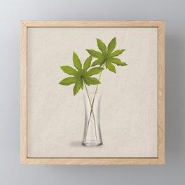 Aralia Leaves Framed Mini Art Print