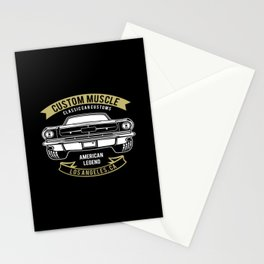 Custom Muscle Classic Car Vintage Motorcar Rider Stationery Cards