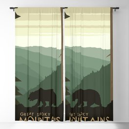 Great Smoky Mountains Blackout Curtain
