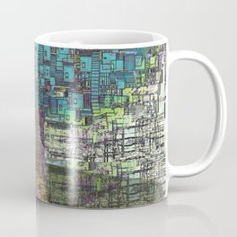 Tree Town - Magical Retro Futuristic Landscape Coffee Mug
