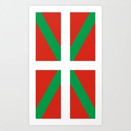 Basque Country: Euskaldun Flag Art Print