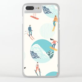 Ski pattern Clear iPhone Case
