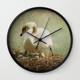 EGGS OVER EASY Wall Clock