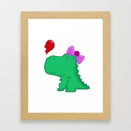 Dinogirl Framed Art Print