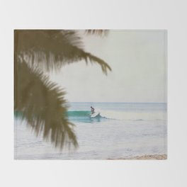 Summer Surf Throw Blanket