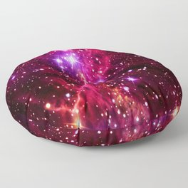Colorful Of Nebula Floor Pillow