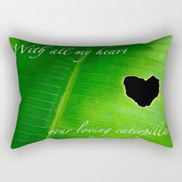 Heart design made by a romantic caterpillar Rectangular Pillow