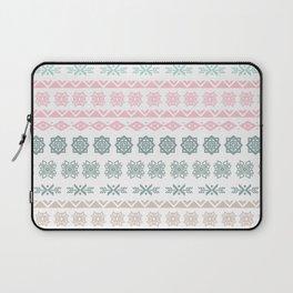 Modern pastel color geometrical scandinavian pattern Laptop Sleeve