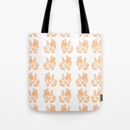 Orange Burmese Lion Tote Bag