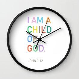 I Am A Child Of God, Bible Verse  Wall Clock