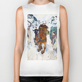 Galloping Horse by Edvard Munch Biker Tank