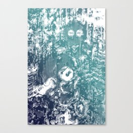 Inky Shadows - Blue edition Canvas Print