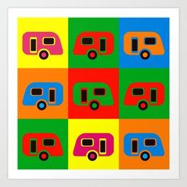 Caravan Pop Art Art Print