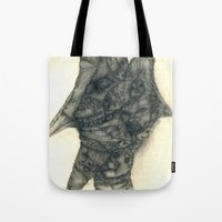 faces Tote Bags featuring Faces by Attila Hegedus