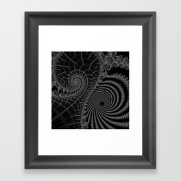 Peaks And Troughs 2 Inverted Framed Art Print
