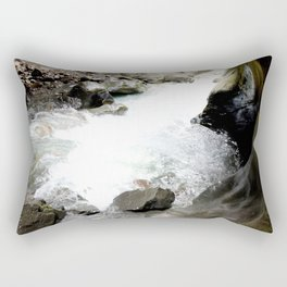Climbing Down to the 200-Foot Depths of Box Canyon Falls Rectangular Pillow
