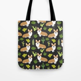 Welsh Corgi cactus southwest desert dog breed corgis gifts Tote Bag