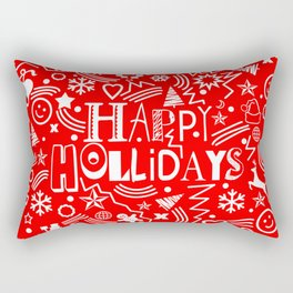 Happy Holidays Rectangular Pillow