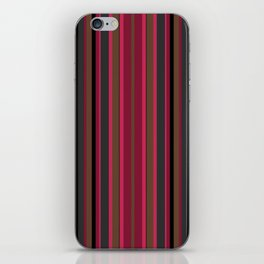 Multi-colored striped pattern in Magenta , black and brown tones . iPhone Skin