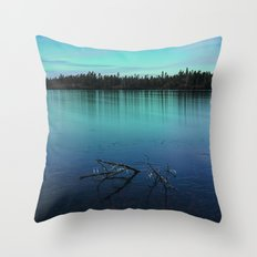 Faint Northern Glow Throw Pillow