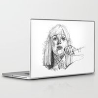 amy sia Laptop & iPad Skins featuring Sia Scribbles (Pen Art) by Aeriz85