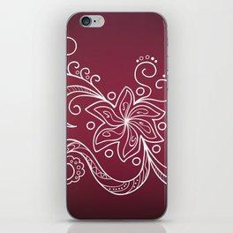 mehndi flower iPhone Skin