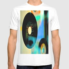 Nothing Sounds Like Vinyl MEDIUM White Mens Fitted Tee