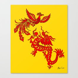 Phoenix Dragon Feng Shui Canvas Print