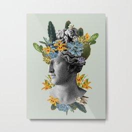Green Statue Metal Print