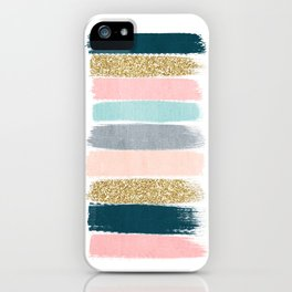 Zara - Brushstroke glitter trendy girly art print and phone case for young trendy girls iPhone Case